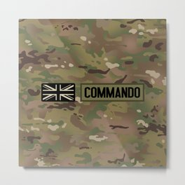 British Flag: Commando (Camo) Metal Print