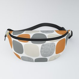 Wonky Ovals in Orange Fanny Pack