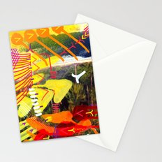 Wave yellow Stationery Cards