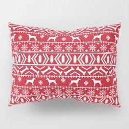 German Shorthair Pointer fair isle christmas holidays dog breed pattern Pillow Sham
