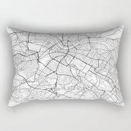 Dresden Map White Rectangular Pillow
