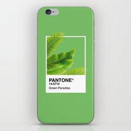 Pantone Series –Green Paradise iPhone Skin