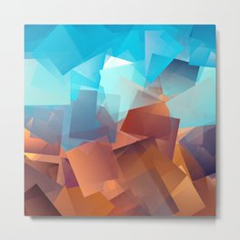 Cubism Abstract 177 Metal Print