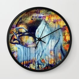 He Became One with Art Wall Clock