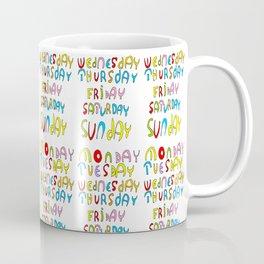 days in a week 1- day,week, daytime,dia,semana,child,school Coffee Mug