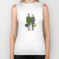 couple Biker Tanks featuring Couple by uzualsunday