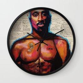 lyrics,poems,rapper,colourful,colorful,poster,wall art,fan art,music,hiphop,rap,rapper,legend,shirt, Wall Clock