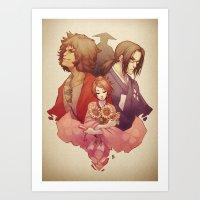 samurai champloo Art Prints featuring Samurai Champloo by Kathryn Layno