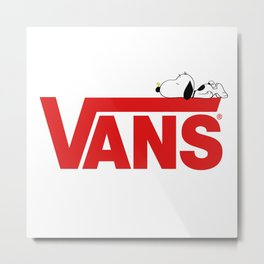 Snoopy Vans Logo Metal Print
