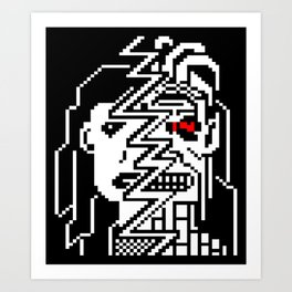 Teletext Monster Girl Art Print