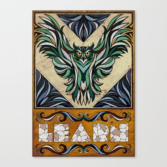 Learn Canvas Print