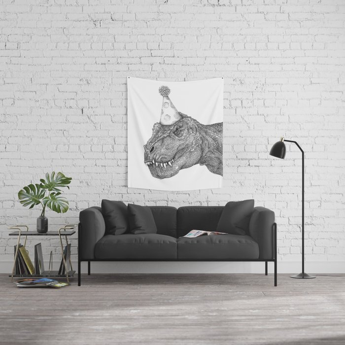 Party Dinosaur Wall Tapestry