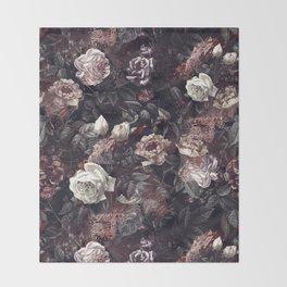 EXOTIC GARDEN - NIGHT III Throw Blanket