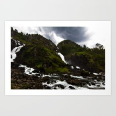 Norwegian Waterfalls Art Print