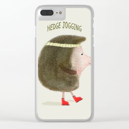 hedge jogging Clear iPhone Case