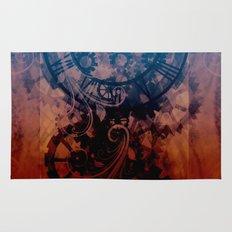 Steampunk clock Rug