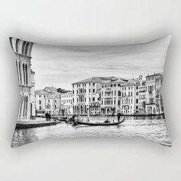 Gondola and tourists in Venice Rectangular Pillow