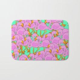 Flaming Flamingos Bath Mat
