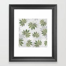 Tropical green leaves Framed Art Print