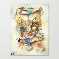 calendar Canvas Prints featuring Calendar Machine by Archan Nair