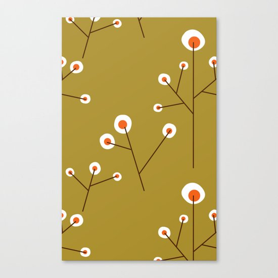 Retro Green Pattern Design Canvas Print