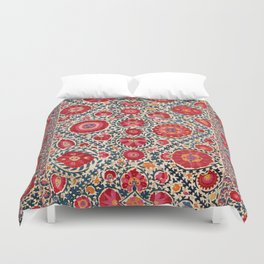 Kermina Suzani Uzbekistan Embroidery Print Duvet Cover