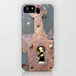 Rusty gate lock iPhone Case