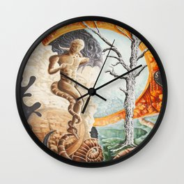 surveying the landscape Wall Clock