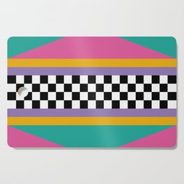 Checkered pattern grid / Vintage 80s / Retro 90s Cutting Board
