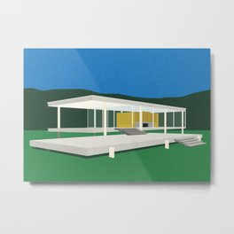 Farnsworth House Metal Print