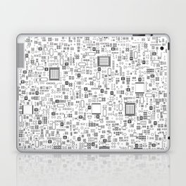 All Tech Line / Highly detailed computer circuit board pattern Laptop & iPad Skin