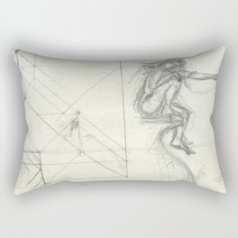 Arial,the ghost Rectangular Pillow