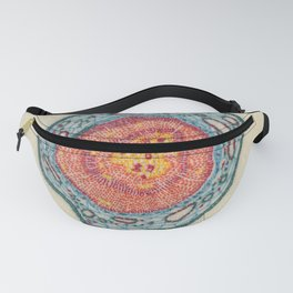 Growing - Pinus 2 - plant cell embroidery Fanny Pack