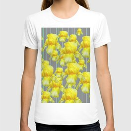 OODLES OF YELLOW IRIS GREY GARDEN ART T-shirt