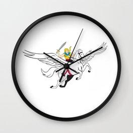 Valkyrie Amazon Warrior Flying Horse Cartoon Wall Clock