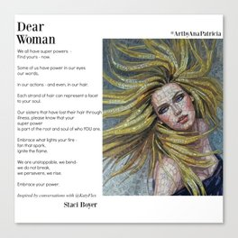 Dear Woman - Super Powers Canvas Print