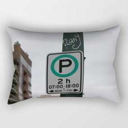 2h Parking Rectangular Pillow