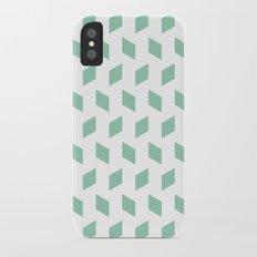 rhombus bomb in grayed jade iPhone X Slim Case