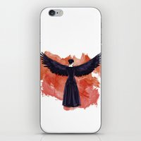 cyrilliart iPhone & iPod Skins featuring Mockingjay by Cyrilliart