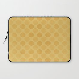 Faded yellow circles pattern Laptop Sleeve