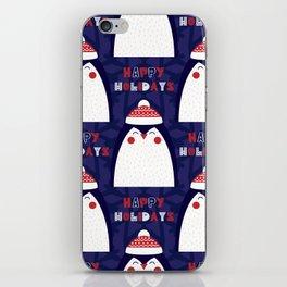 Merry Penguin iPhone Skin