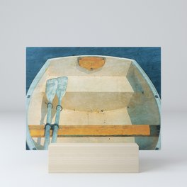 Yellow Boat Rowboat Mini Art Print