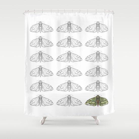 Moonlight Icarus Shower Curtain