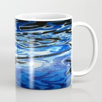 grateful dead Mugs featuring Jerry Garcia Blues Acrylic Painting Grateful Dead by Acorn
