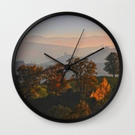 Hilly Landscape Wall Clock