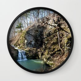 Alone in Secret Hollow with the Caves, Cascades, and Critters, No. 20 of 21 Wall Clock