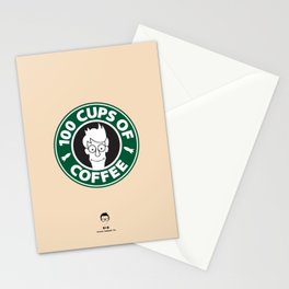 100 Cups of Coffee Stationery Cards