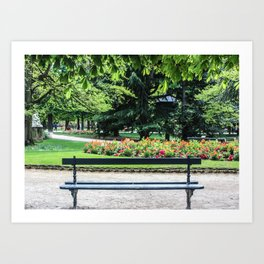 Luxembourg Gardens, Paris France Art Print