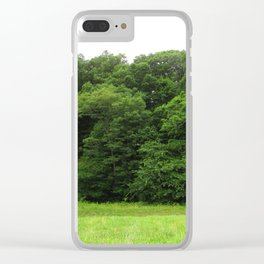Trees at the Bottom Clear iPhone Case