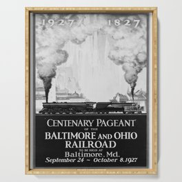 retro old Centenary Pageant poster Serving Tray